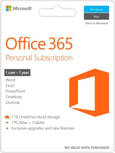 Buy Office 365 Personal, 1-year subscription, 1 PC/Mac