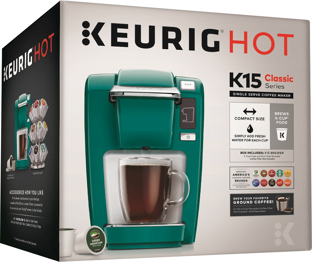 Keurig 119423 K15 Single-Serve Coffee Maker Jade green