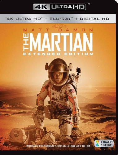 The Martian [Extended Edition] [4K Ultra HD Blu-ray/Blu-ray] [2015] 5280016