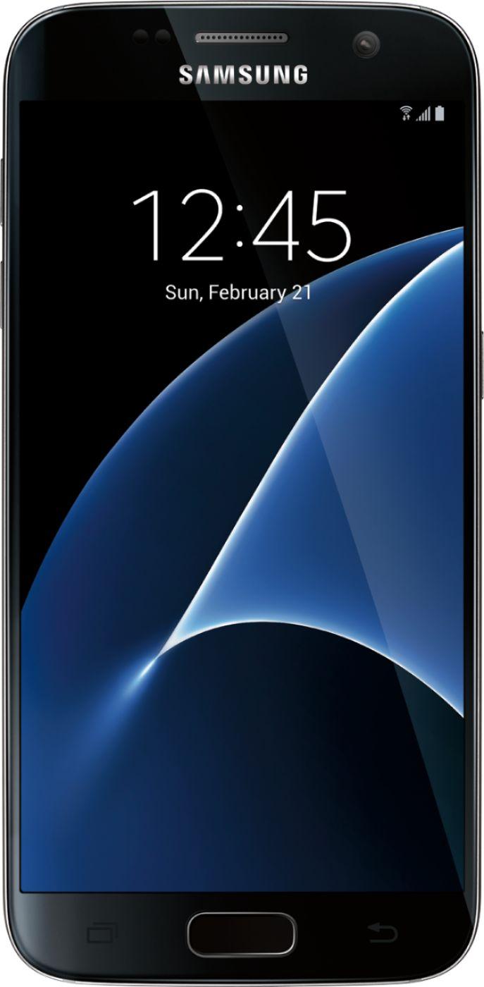 Samsung - Galaxy S7 4G LTE with 32GB Memory Cell Phone (Unlocked) - Black Onyx