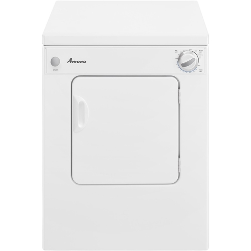 Amana - 3.4 Cu. Ft. 5-Cycle Electric Dryer - White