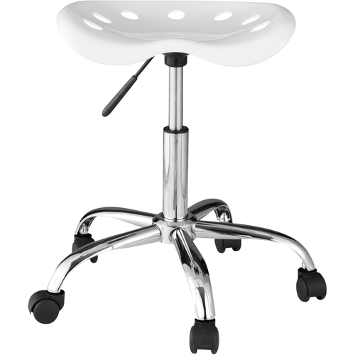 Comfort - Plastic And Steel Stool - White 5322415