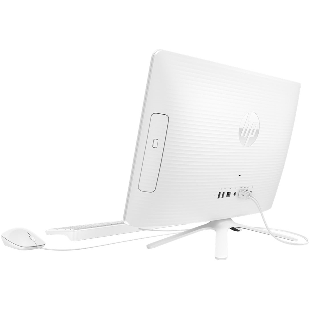 """HP V8N94AA#ABA 23.8"""" All-In-One AMD A8-Series 4GB Memory 1TB Hard Drive finish in snow white"""