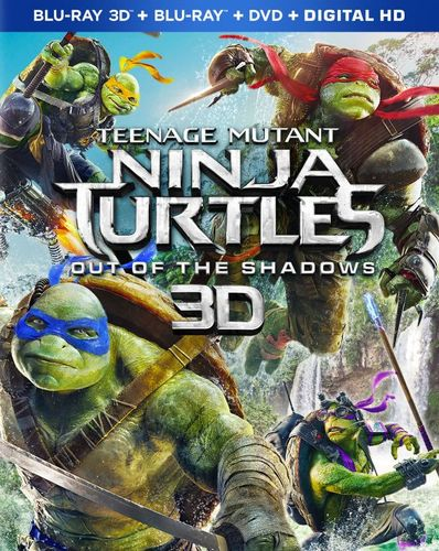 Teenage Mutant Ninja Turtles: Out of the Shadows [Includes Digital Copy] [3D] [Blu-ray/DVD] [Blu-ray/Blu-ray 3D/DVD] [2016] 5330401