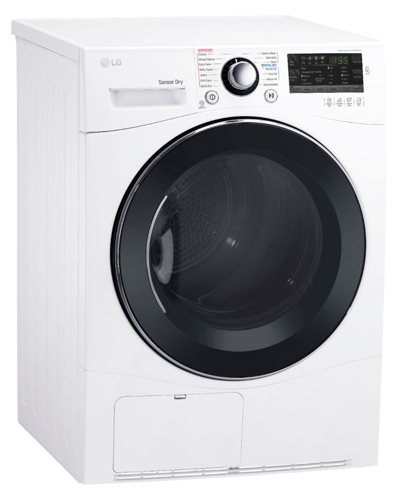 LG DLEC888W 4.2 Cu. Ft. 14-Cycle Compact Electric Dryer White