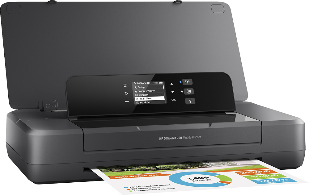HP CZ993A#B1H Officejet 200 Mobile Inkjet Printer