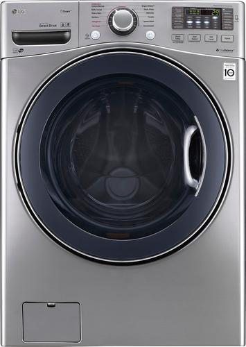 LG - TurboWash 4.5 Cu. Ft. 12-Cycle Front-Loading Washer with Steam - Graphite Steel 5348101