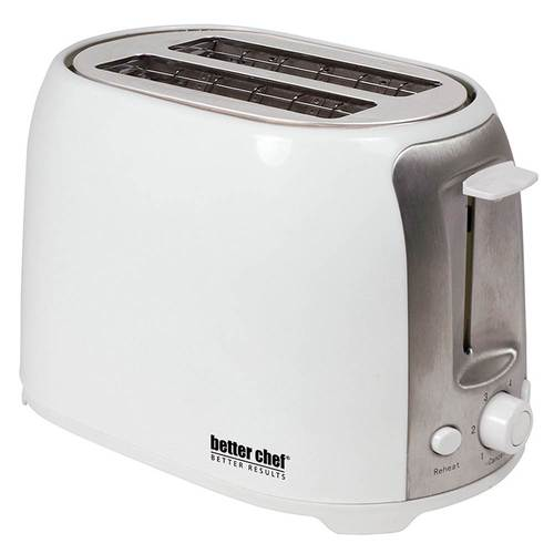 Better Chef 2-Slice Extra-Wide-Slot Toaster White 91595029M
