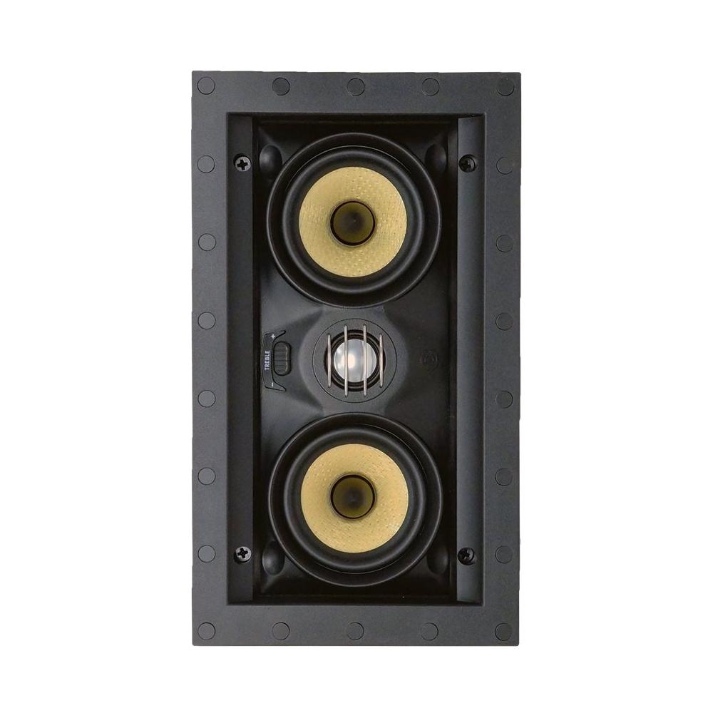 "SpeakerCraft - Profile Series Dual 3"" Passive 2-Way In-Wall Speaker (Each) - White"