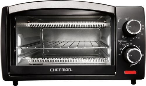 Chefman - 4-Slice Toaster Oven - Black