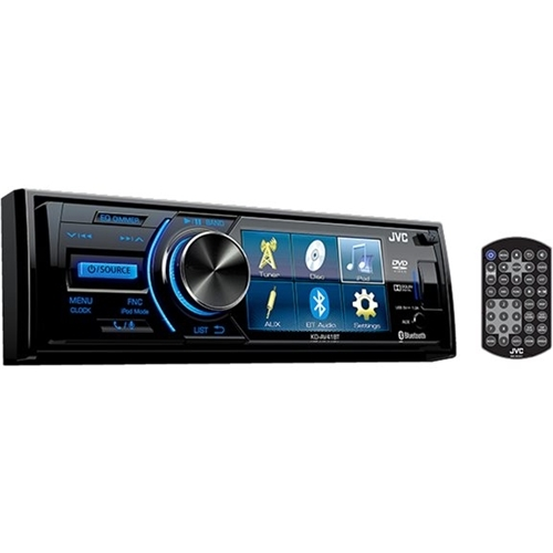 JVC - In-Dash CD/DVD/DM Receiver - Built-in Bluetooth with Detachable Faceplate - Black