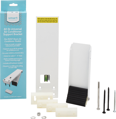 Frigidaire - Smart Choice® Support Bracket for Most Air Conditioners Up to 80 lbs. Compatible with most air conditioners weighing up to 80 lbs; all-weather construction; built in bubble level; durable construction; installs from inside