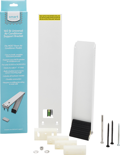 Frigidaire - Smart Choice® Support Bracket for Most Air Conditioners Up to 160 lbs. Compatible with most air conditioners weighing up to 160 lbs; all-weather construction; built in bubble level; durable construction; installs from inside
