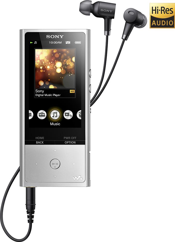 Sony NWZX100HNSM Walkman NW-ZX100 Series 128GB* Hi-Res Digital Audio Player Silver