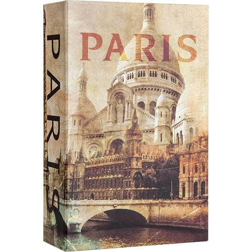 Barska - Paris Book Lock Box with Combination Lock - Beige/Brown