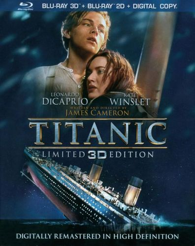 Titanic in 3D [4 Discs] [Includes Digital Copy] [3D] [Blu-ray] [Blu-ray/Blu-ray 3D] [1997] 5401009