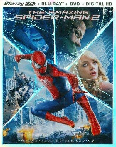 The Amazing Spider-Man 2 [Includes Digital Copy] [Ultraviolet] [3D] [Blu-ray/DVD] [Blu-ray/Blu-ray 3D/DVD] [2014] 5413019