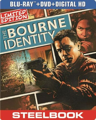 The Bourne Identity [2 Discs] [Includes Digital Copy] [UltraViolet] [SteelBook] [Blu-ray/DVD] [2002] 5419022