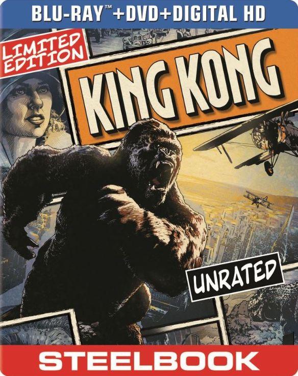 King Kong [2 Discs] [Includes Digital Copy] [UltraViolet] [SteelBook] [Blu-ray/DVD] [2005] 5419031