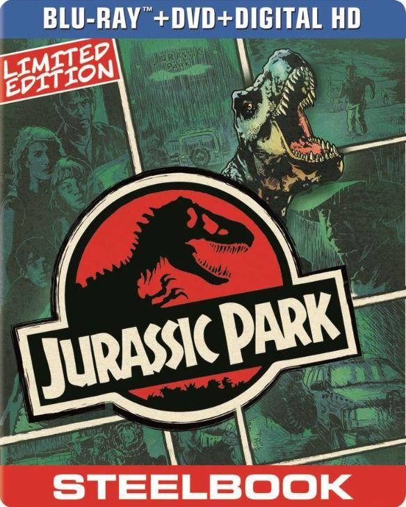 Jurassic Park [2 Discs] [Includes Digital Copy] [UltraViolet] [SteelBook] [Blu-ray/DVD] [1993] 5419086