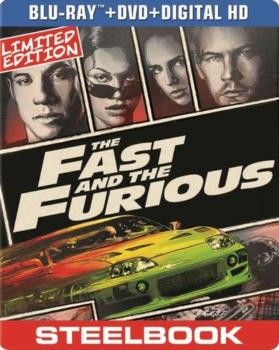 The Fast and the Furious [2 Discs] [Includes Digital Copy] [UltraViolet] [SteelBook] [Blu-ray/DVD] [2001] 5419155