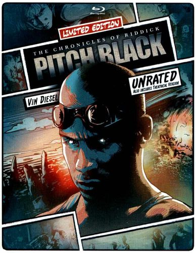 Pitch Black [SteelBook] [Includes Digital Copy] [UltraViolet] [Blu-ray/DVD] [2 Discs] [2000] 5419164