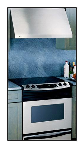 GE - Profile 36 Externally Vented Range Hood - Stainless steel