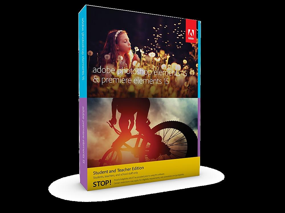 Adobe ADO951800F057 Photoshop Elements 15 & Premiere Student