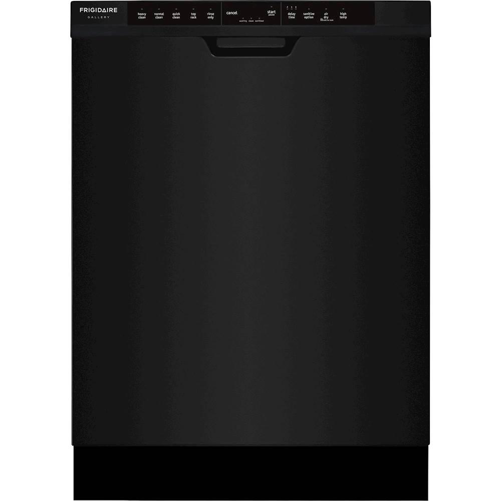 """Frigidaire Gallery 24"""" Top Control Tall Tub Built-In Dishwasher Black FGCD2444SB"""