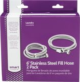 Smart Choice - 6' Stainless-Steel Washing Machine Fill Hose (2-Pack)