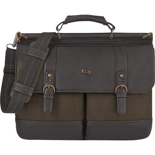 Solo - Executive Collection Bradford Laptop Briefcase - Espresso 5447014