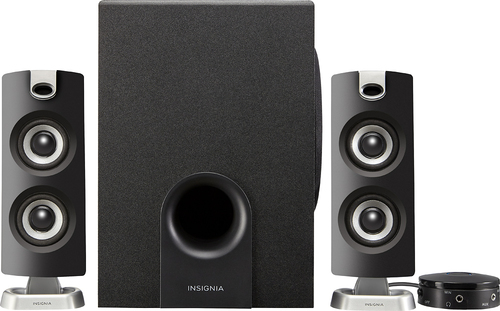 Manufacturer refurbished Insignia NS-PSB4721 2.1 Bluetooth Speaker System - Black  NEW