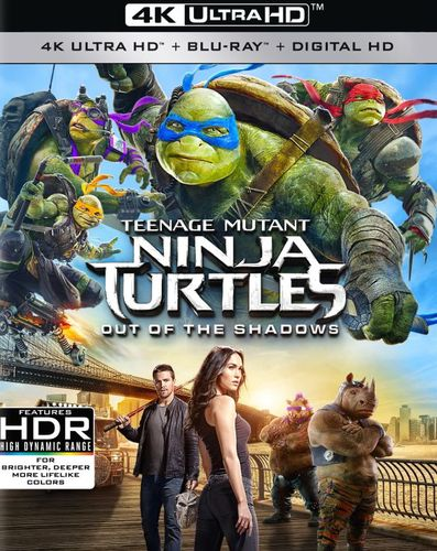 Teenage Mutant Ninja Turtles: Out of the Shadows [4K Ultra HD Blu-ray/Blu-ray] [2016] 5466603
