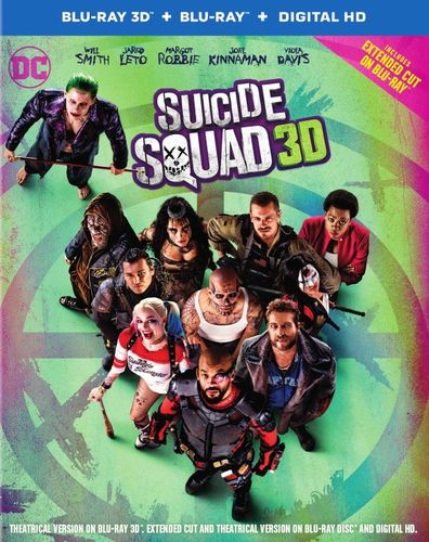 Suicide Squad [3D] [Blu-ray] [Blu-ray/Blu-ray 3D] [2016] 5472103