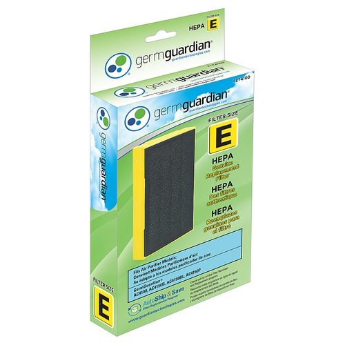 GermGuardian - E HEPA Filter for GermGuardian AC4100 3-in-1 Tabletop HEPA Filter Air Purifier - White 5473005