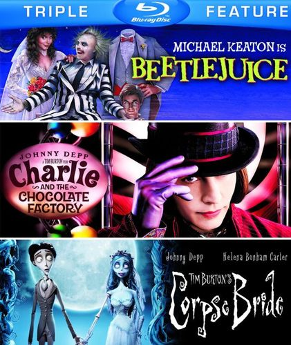 Beetlejuice/Charlie and Chocolate Factory/Tim Burton's Corpse Bride [3 Discs] [Blu-ray] 5485121