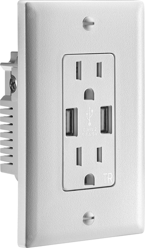Insignia NS-HW36A217 - Power adapter - 3.6 A (USB, 3-pole) - white