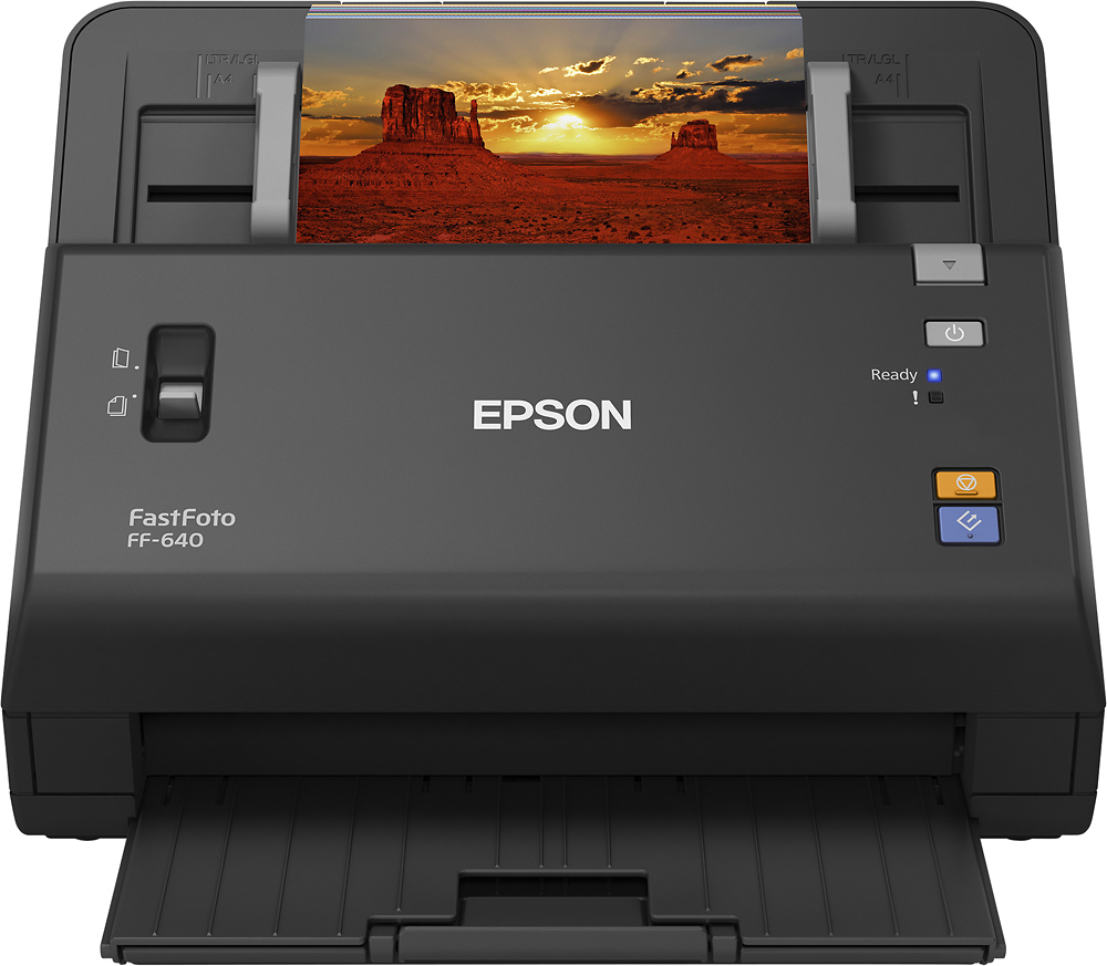 Epson FastFoto FF-640 Document Scanner Black EPSON FASTFOTO FF-640   B11B24