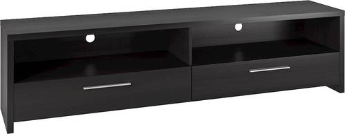 """CorLiving - Fernbrook Collection TV Cabinet for Most Flat-Panel TVs Up to 85"""" - Black faux wood grain"""
