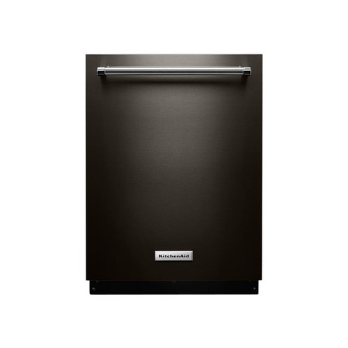 KitchenAid Top Control Built-In Tall Tub Dishwasher in Black Stainless with Stainless Steel Tub, 44 dBA