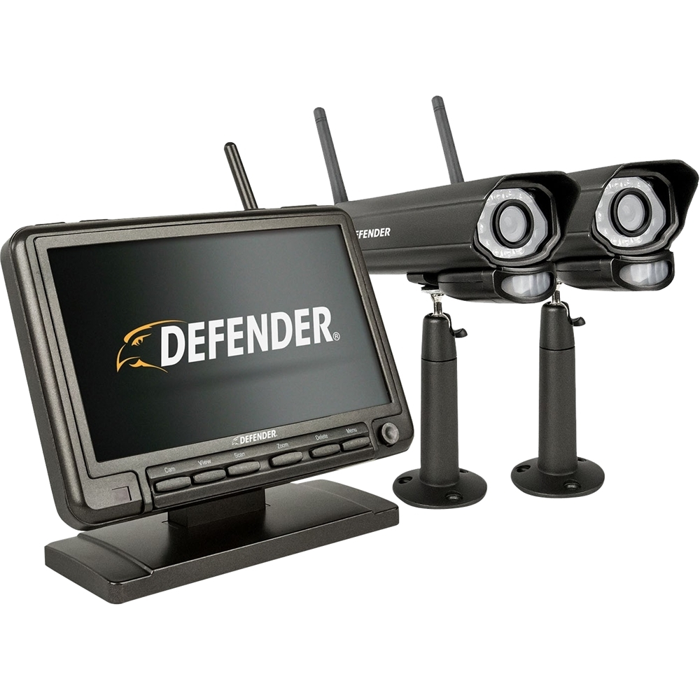 Defender PhoenixM2 4-Channel, 2-Camera Indoor/Outdoor Wireless 640x480 4GB DVR Security System Black PHOENIXM22C