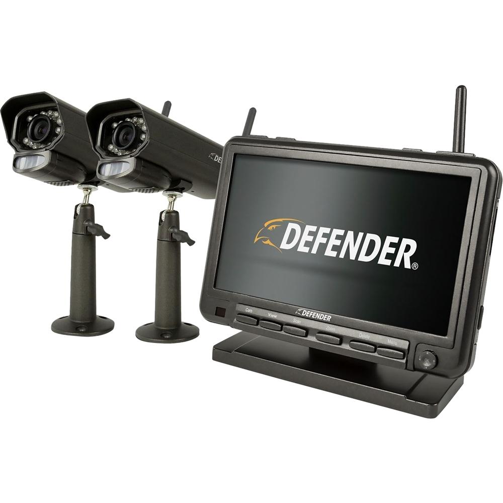 Defender PHOENIXM22C 4-Channel, 2-Camera Indoor/Outdoor Wireless 640x480 4GB DVR Security System Black