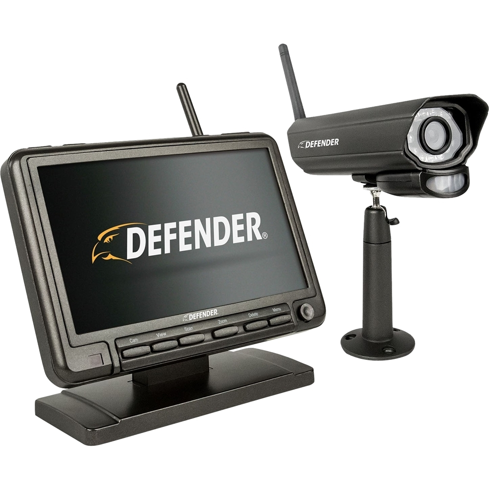 Defender 4-Channel Indoor/Outdoor Wireless 640x480 4GB DVR Security System Black PHOENIXM2
