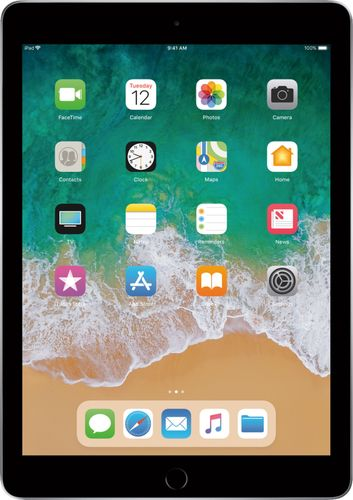 Apple - iPad (5th generation) with WiFi + Cellular- 128GB - Space Gray