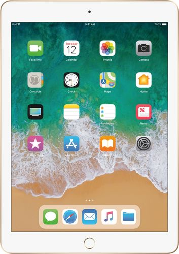 Apple - iPad (5th generation) with WiFi + Cellular- 128GB - Gold 5505800