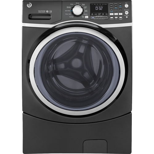 GE - 4.5 Cu. Ft. 10-Cycle Front-Loading Washer with Steam - Diamond Gray 5506792