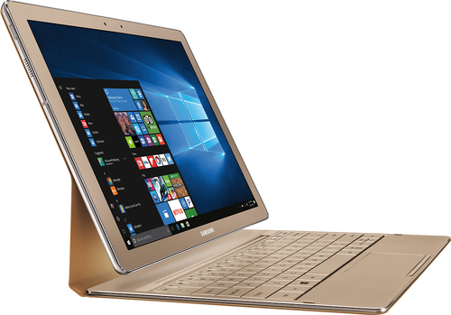 "Samsung - Galaxy TabPro S 2-in-1 12"" Touch-Screen Laptop - Intel Core m3 - 8GB Memory - 256GB Solid State Drive - Gold"