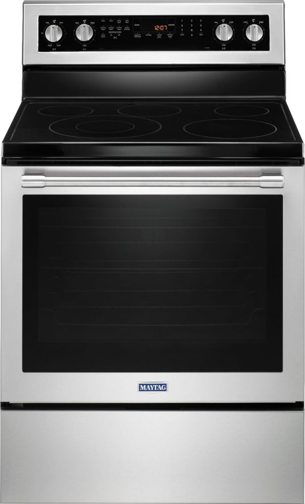 Maytag MER8800FZ 6.4 Cu. Ft. Self-Cleaning Freestanding Electric Convection Range Stainless steel