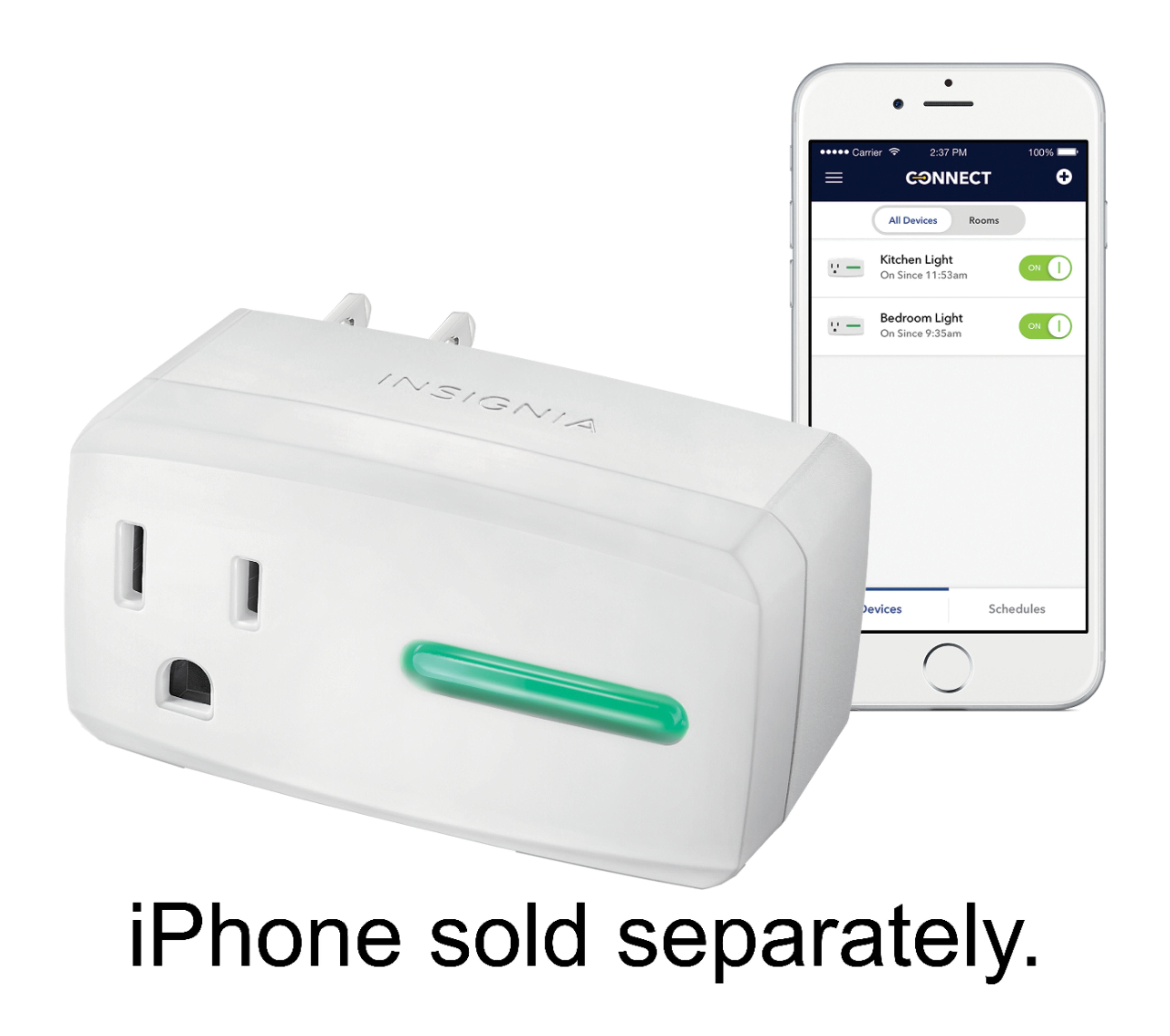 Insignia™ - Wi-Fi Smart Plug - White