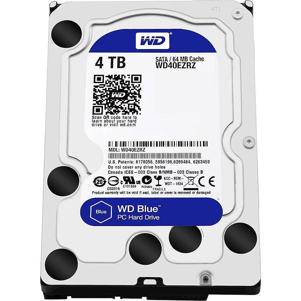 """Wd Blue 4tb Pc Hard Drive - 5400 Rpm Class, Sata 6 Gbs, 64 Mb Cache, 3.5"""" - Wd40ezrz"""